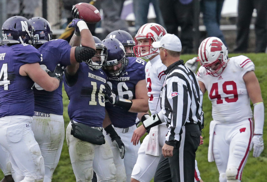 Joel Stave, Sam Arneson, UW football vs. Northwestern