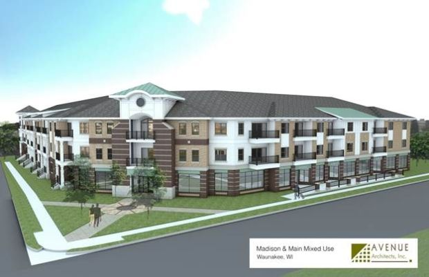 Waunakee housing rendering