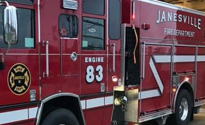 Janesville Fire Dept. truck tight crop