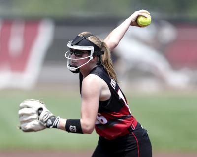 WIAA state softball photo: Sun Prairie junior pitcher Maddie Gardner