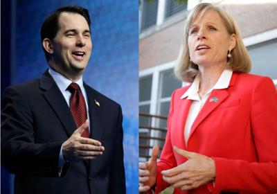 Scott Walker, Mary Burke mashup