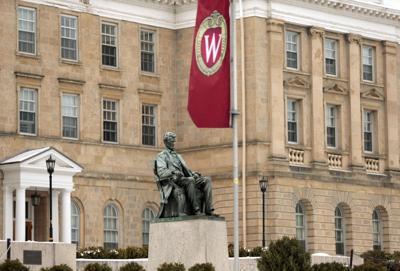 Lincoln statue on UW-Madison campus