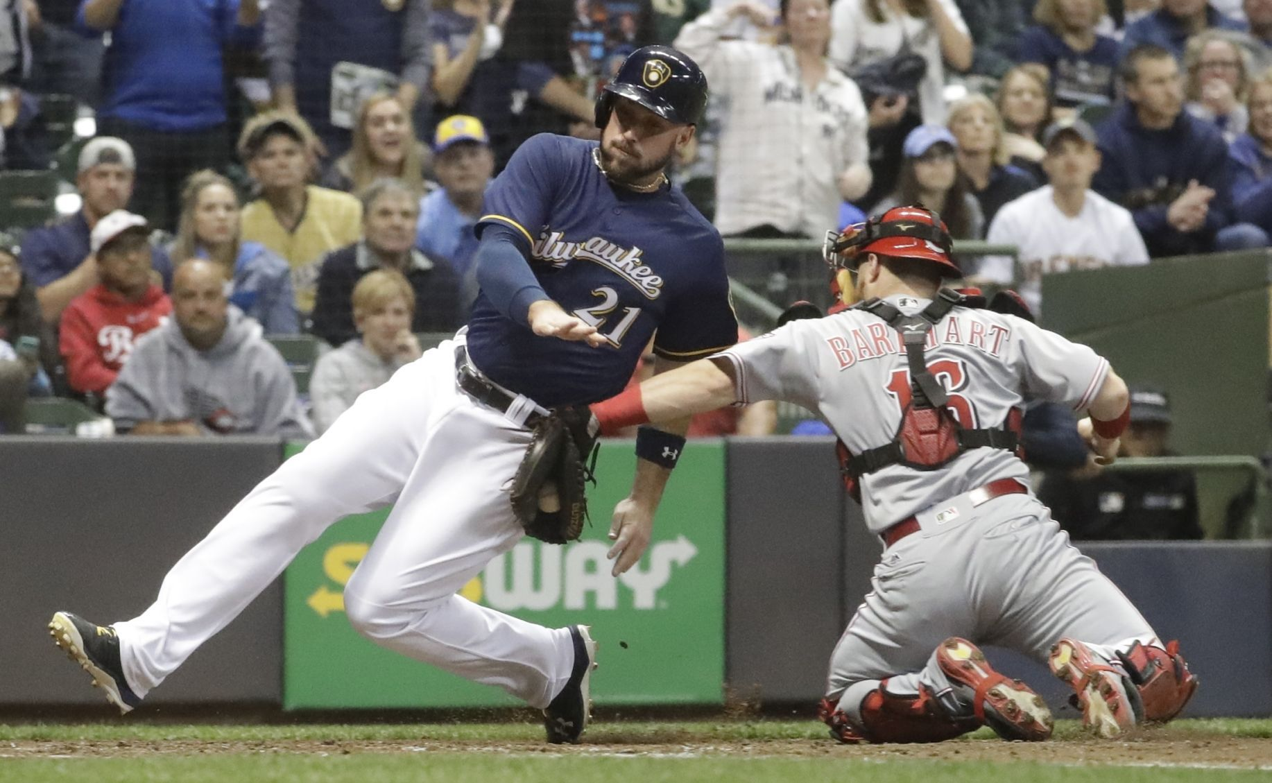 brewers shutout loss to reds hampers playoff chase major league rh madison com