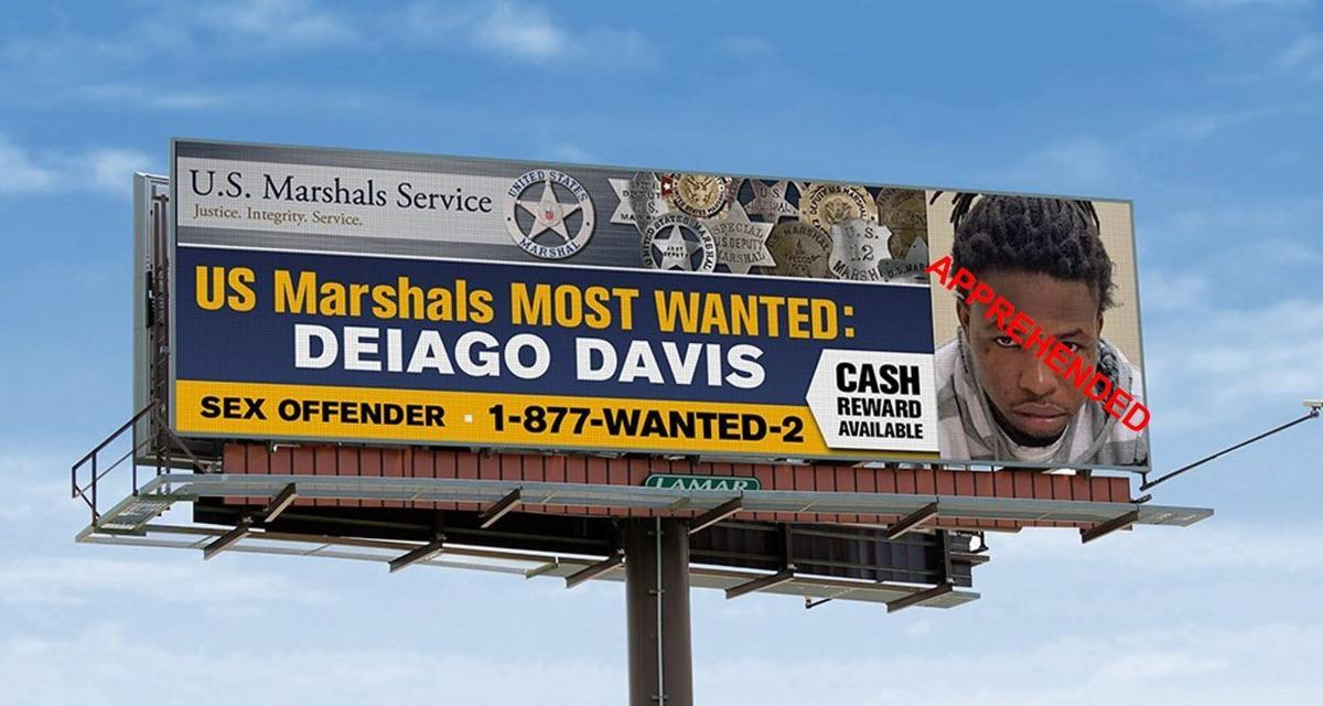 Deiago D. Davis most wanted billboard, police photo