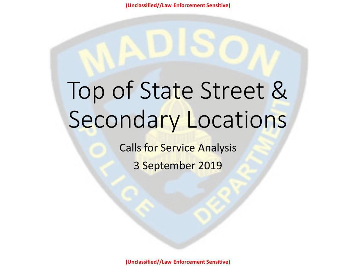 Top of State Street calls for police service