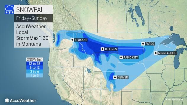 Snow Friday-Sunday by AccuWeather