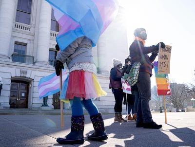 Trans athletes rally