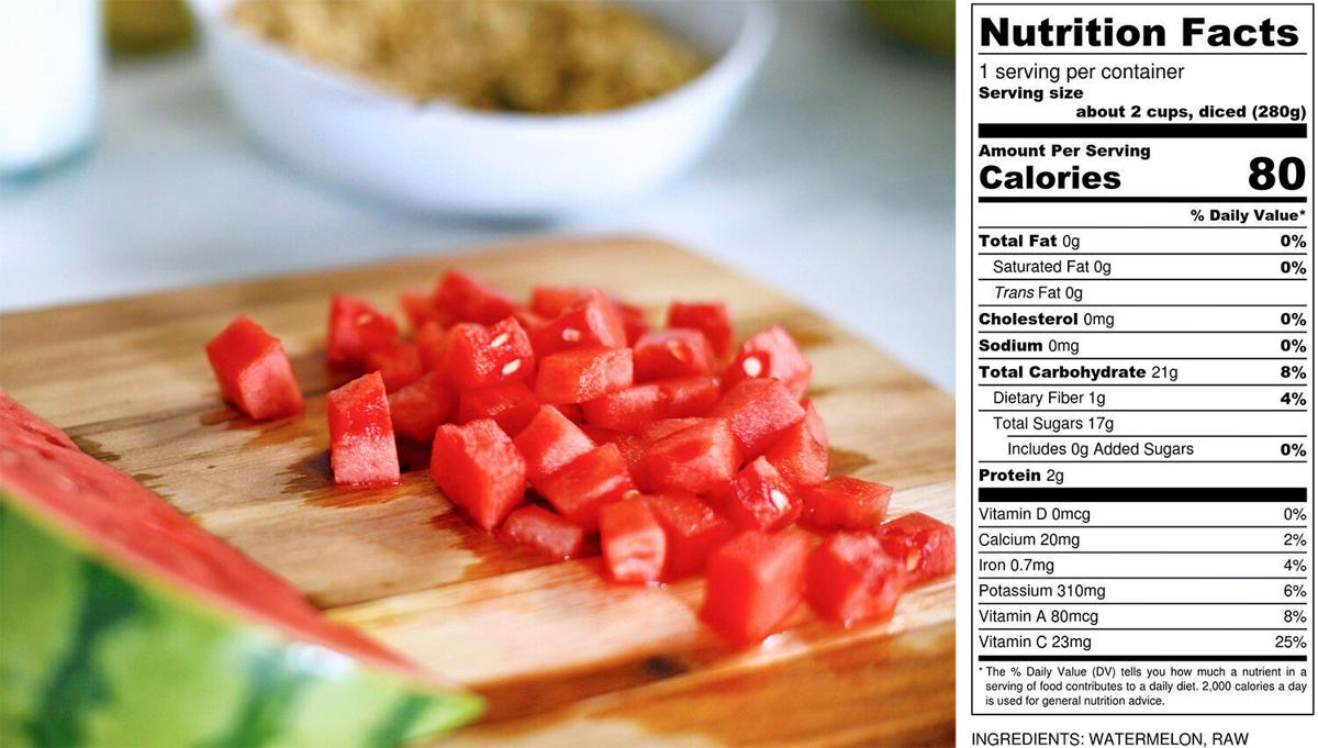 Watermelon label