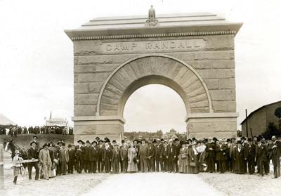 Camp Randall dedication in 1912