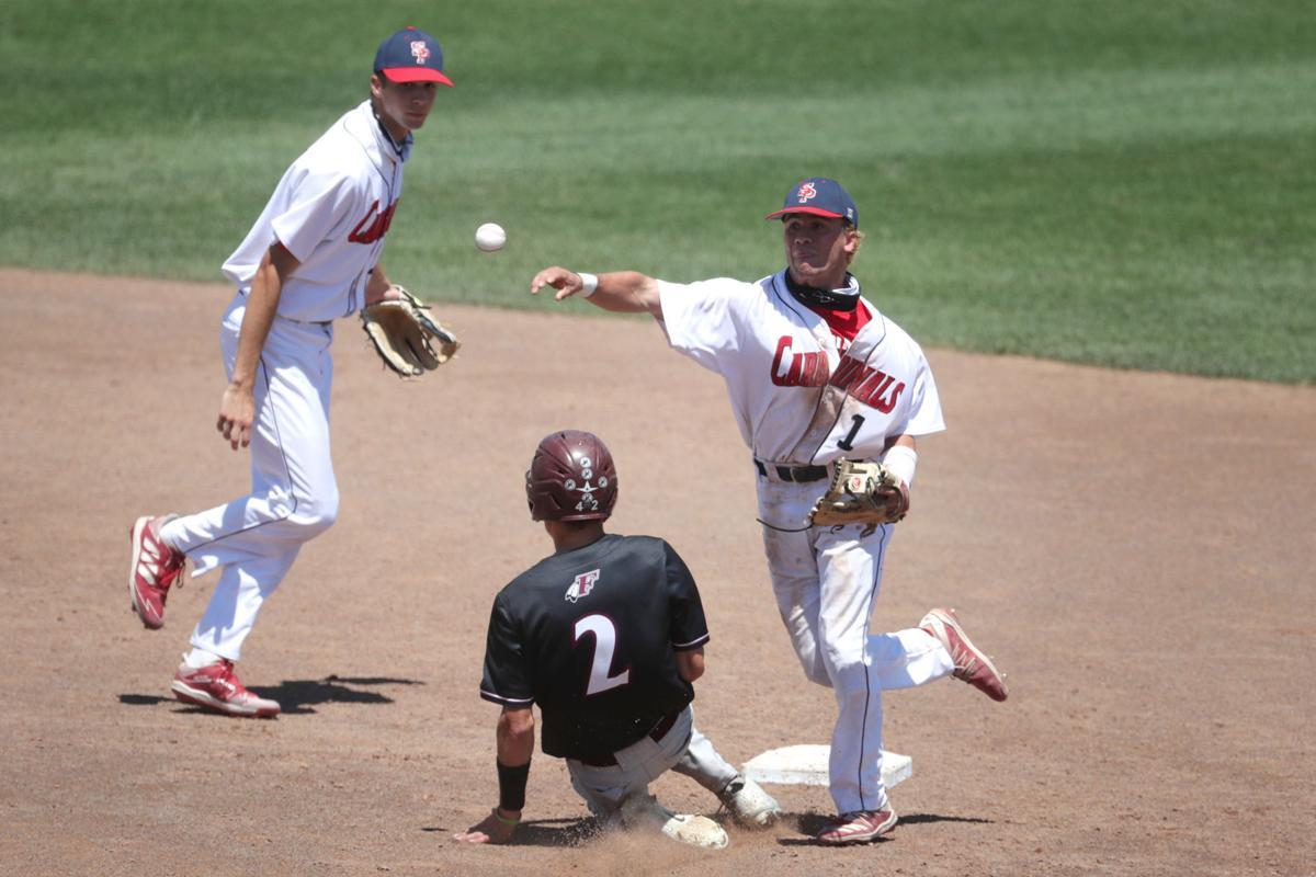 Prep baseball photo: Sun Prairie's Carson Shepard makes the pivot throw