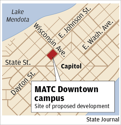 Matc Campus Map.Revised Plans Focus Solely On Hotel Space For Matc Downtown Campus
