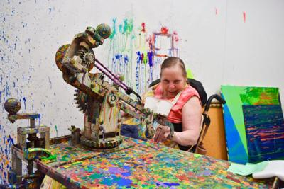 With a 3D printer, he's building their artistic potential and quality of life