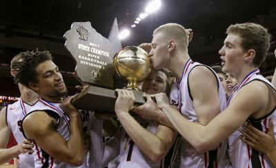 Joey Hauser, WIAA win, AP photo