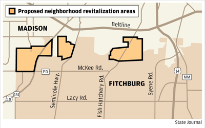 Proposed neighborhood revitalization areas