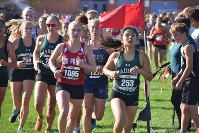 Prep cross country photos: Halfway through Saturday's Verona Invitational girls race