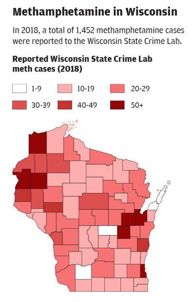 Meth Cases in Wisconsin 2018