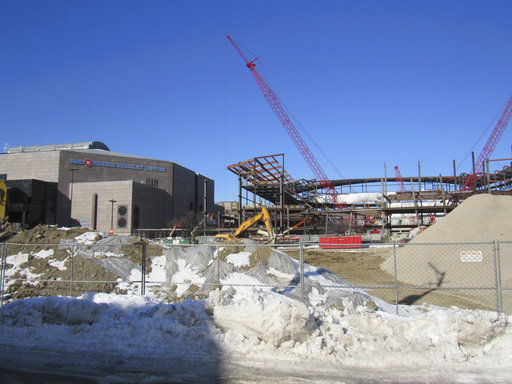 Bucks arena construction, State Journal photo