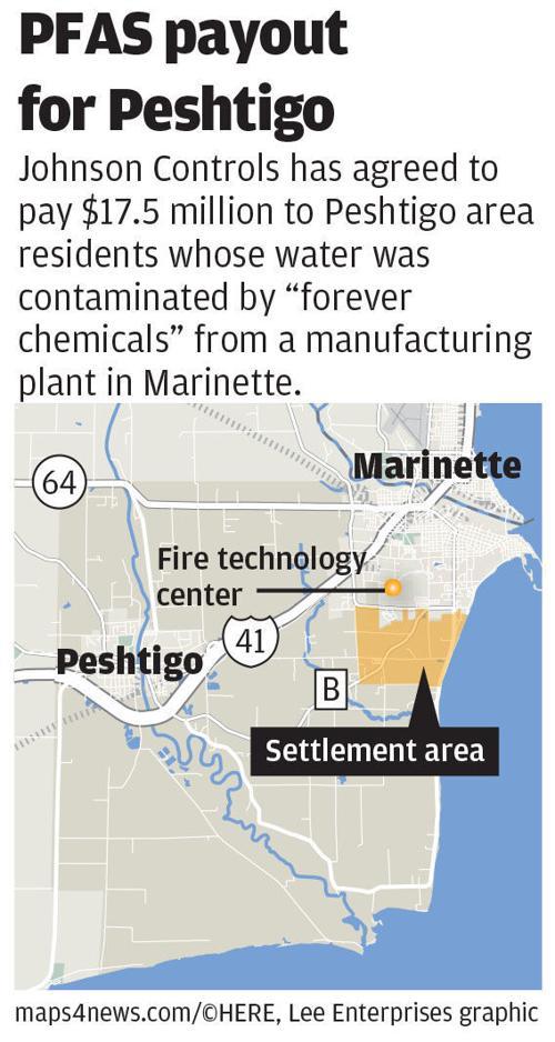 Peshtigo PFAS settlement map