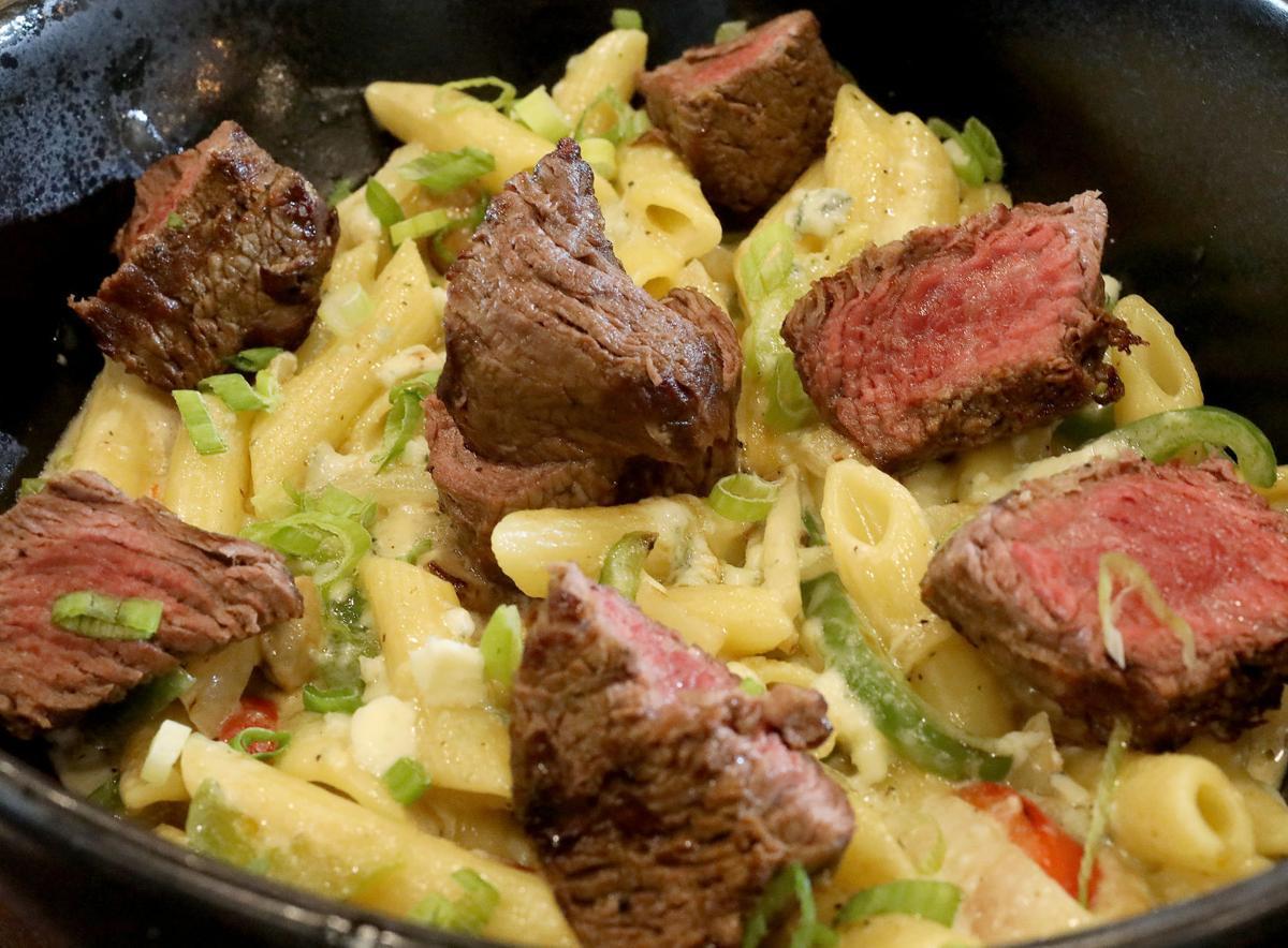 Buck and Honey's steak gorgonzola pasta