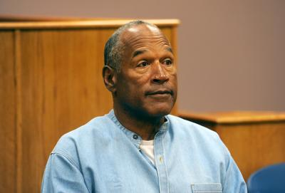 O.J. Simpson attends a parole hearing at Lovelock Correctional Center on July 20, 2017, in Lovelock, Nevada.