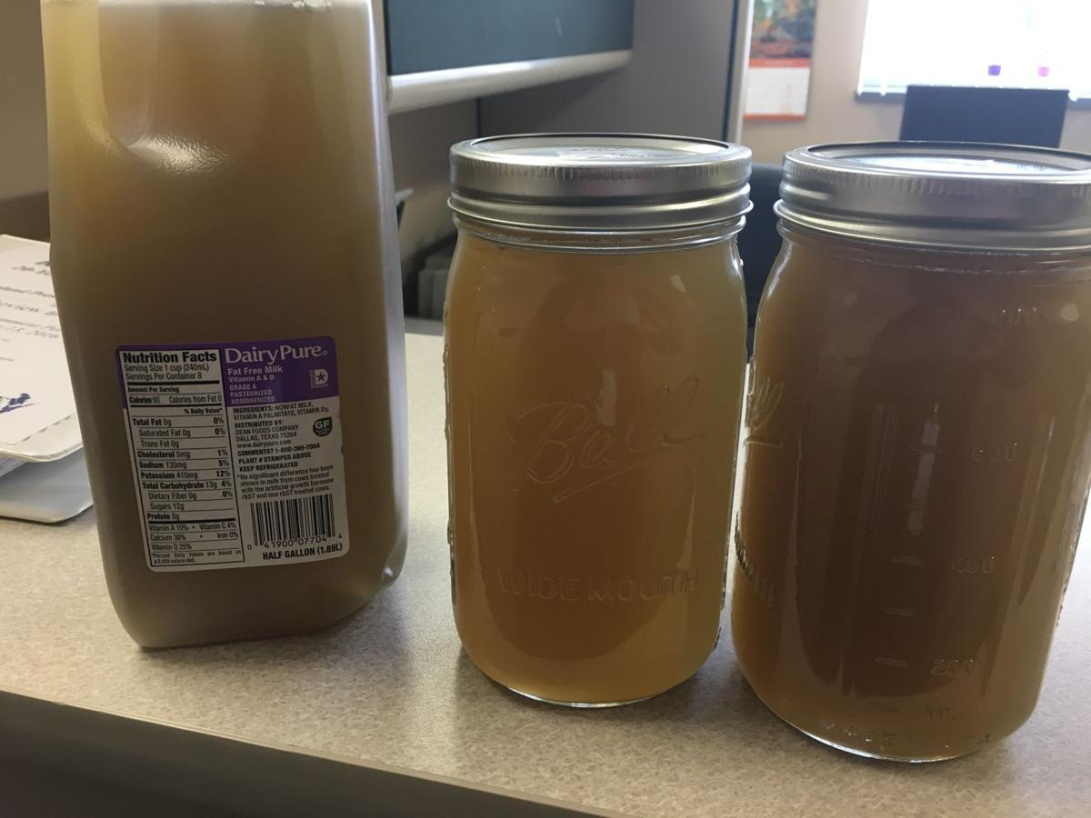 Manure-polluted tap water