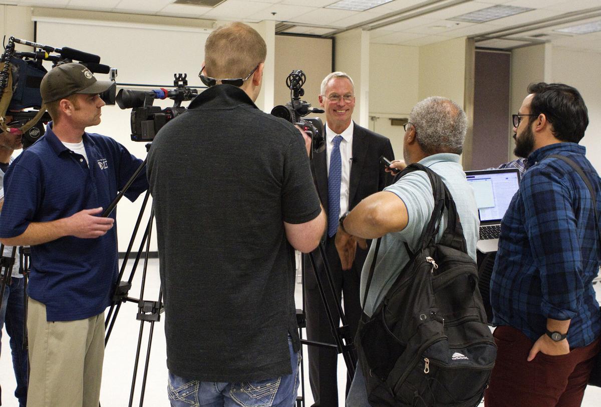 Jim Johnsen speaking to Alaska media