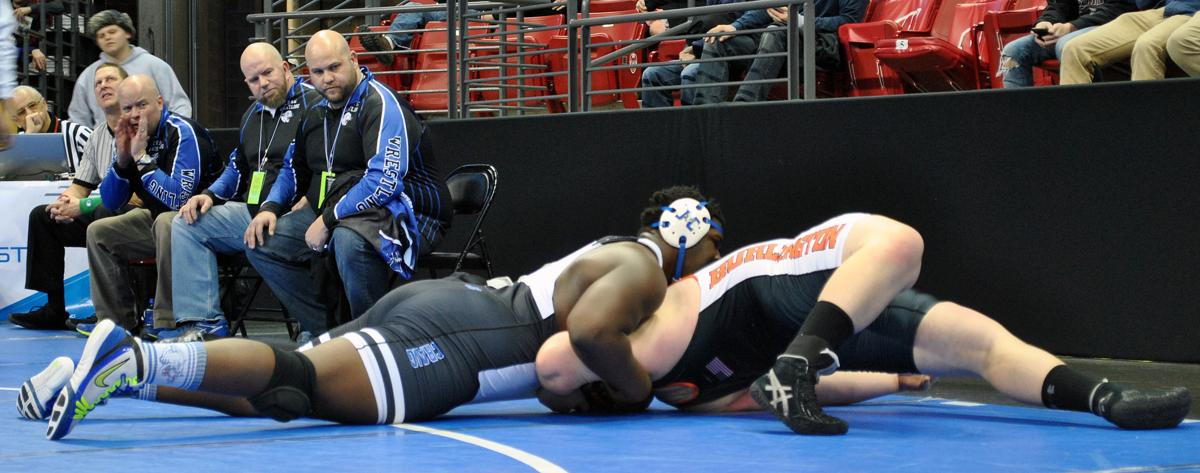 Janesville Craig wrestler Keeanu Benton in the WIAA Division 1 state final