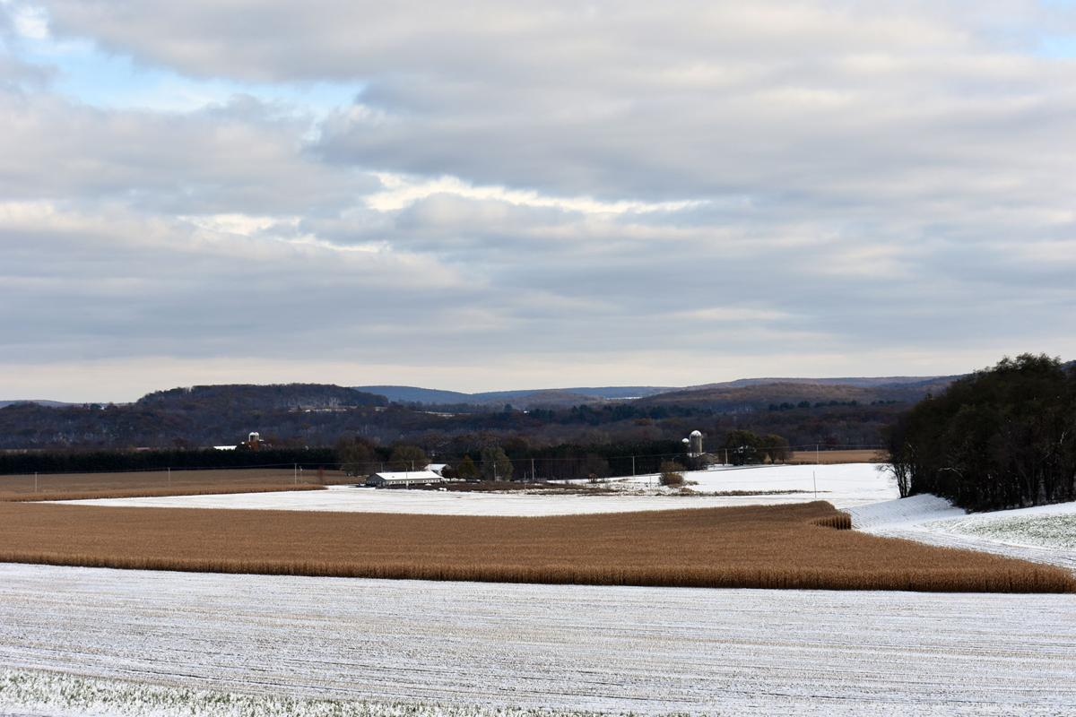 Harvest: Snow on fields