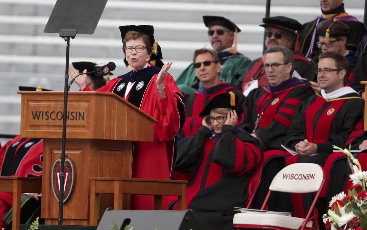 Photos: A sea of caps and gowns at the 2018 UW-Madison spring ...
