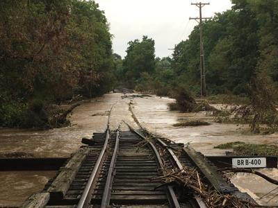 Damage to railroad tracks, Mazomanie