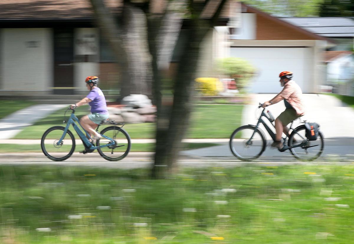 Wendy and Jeff Murkve riding bikes