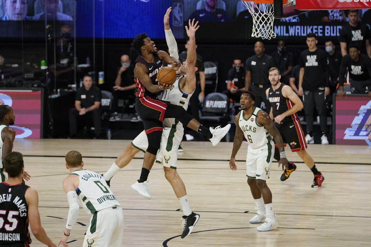 Heat Burst Bucks Bubble Miami Sends Giannis Less Milwaukee Packing Advances To Eastern Conference Finals Basketball Madison Com