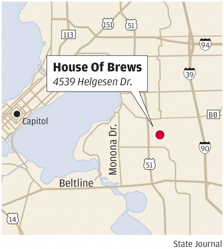 House of Brews locator map