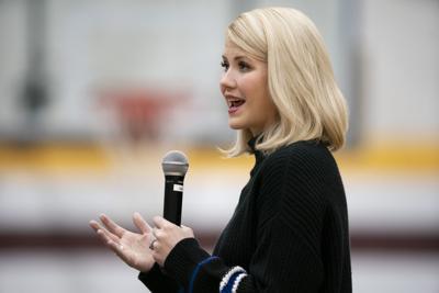 Elizabeth Smart speaks in Barron, Star Tribune photo