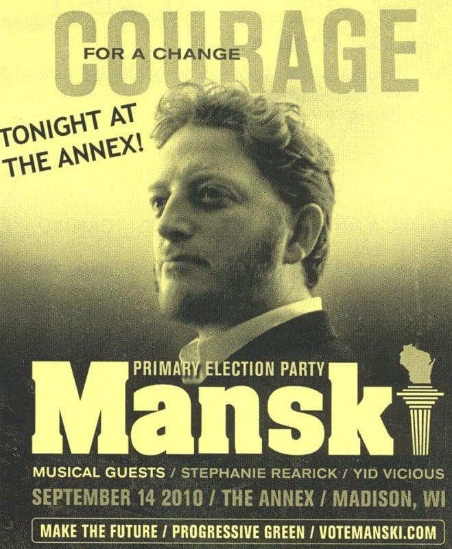 Ben Manski flier