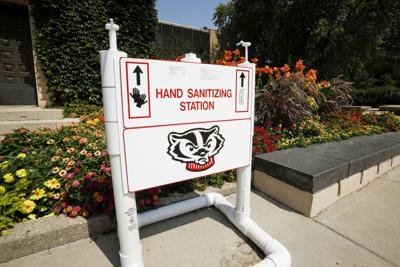 UW-Madison hand sanitizer station