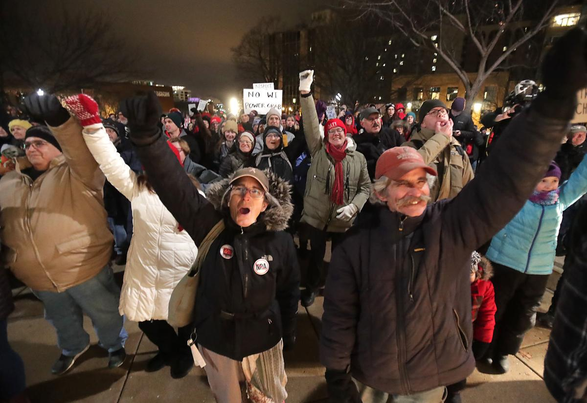 Protesters target GOP lame-duck session new lawsuit