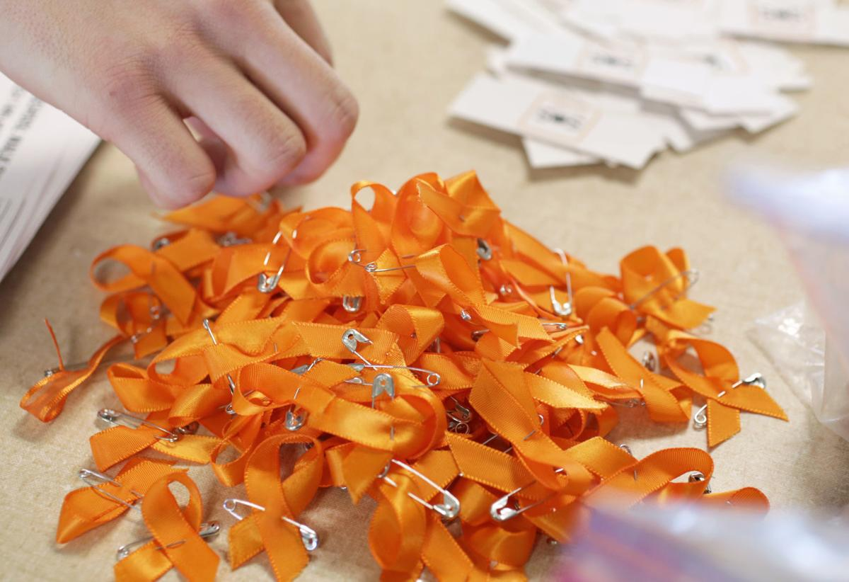 Orange ribbons for gun control