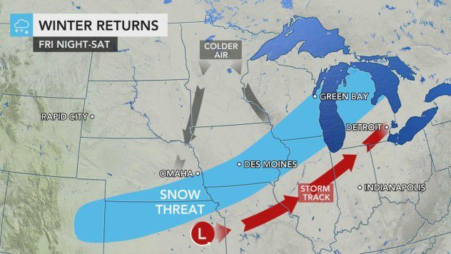 Winter returns Friday night-Saturday by AccuWeather
