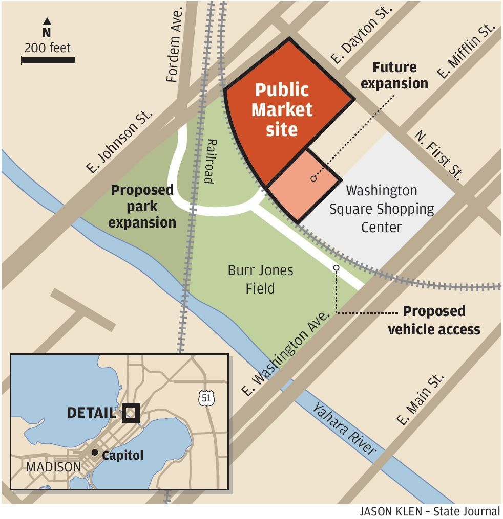 Madison public market site map
