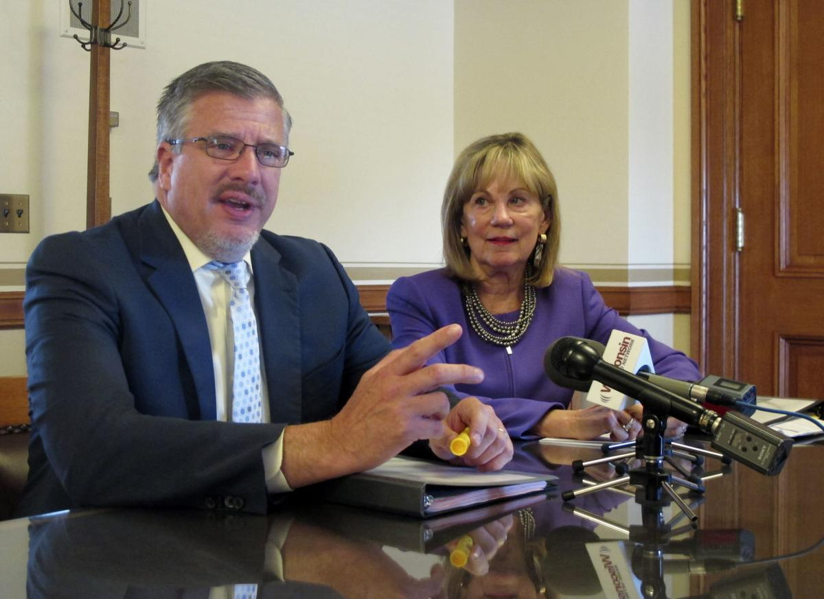 Wisconsin budget committee co-chairs Rep. John Nygren and Sen. Alberta Darling