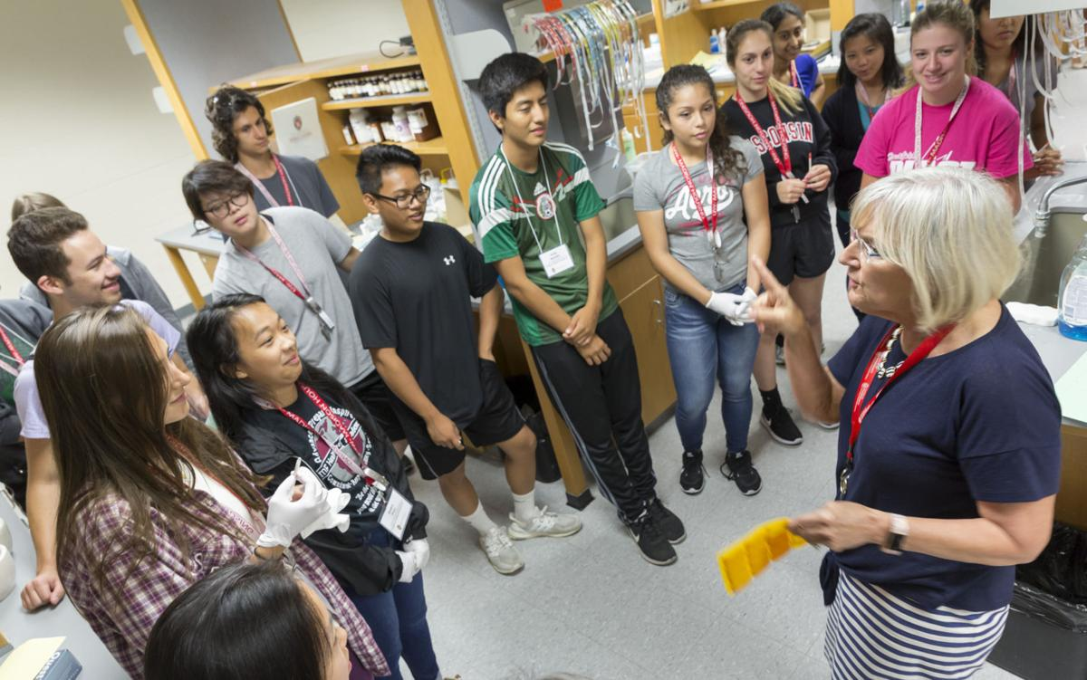 Instructor addresses pharmacy camp students