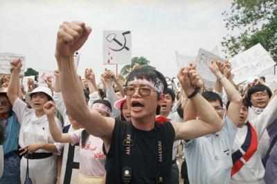 Protests  US  1989  Washington  DC Chinese Studens  Democracy