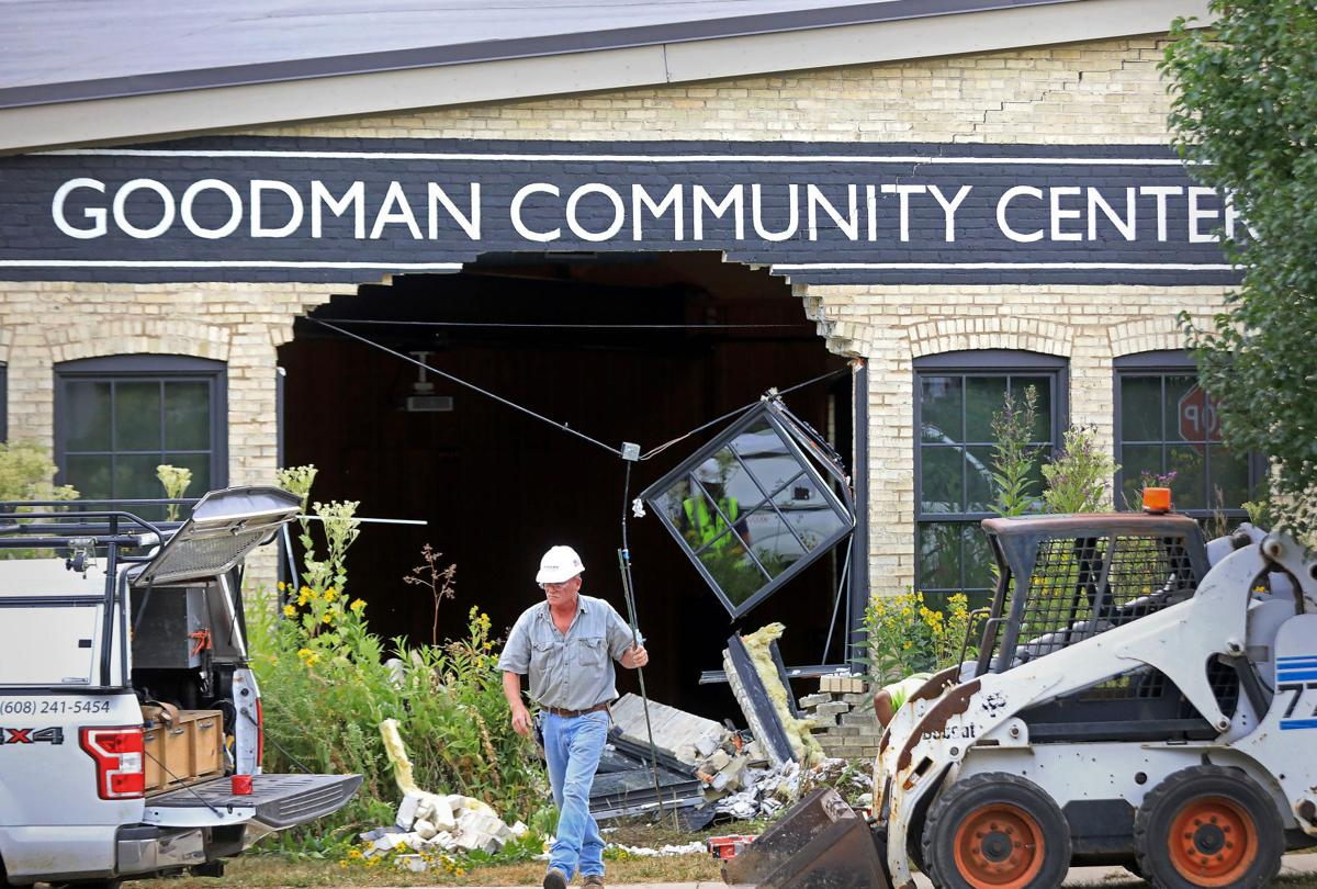 Crash into Goodman Community Center, John Hart photo
