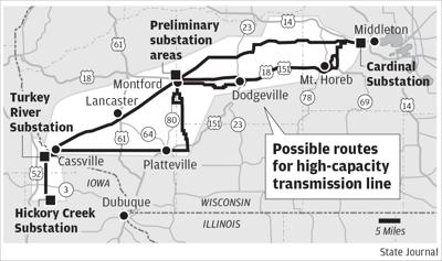Transmission line map