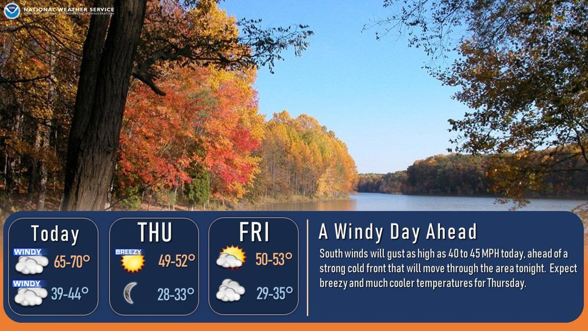 National Weather Service forecast graphic 10-14-20