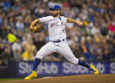 Gio Gonzalez pitches for Brewers, AP photo