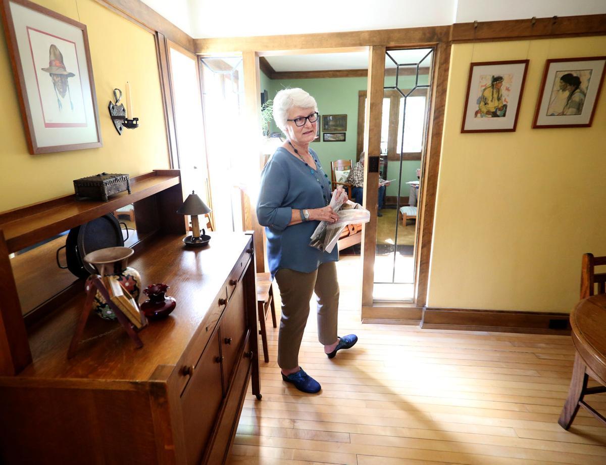 Linda McQuillen in her dining room