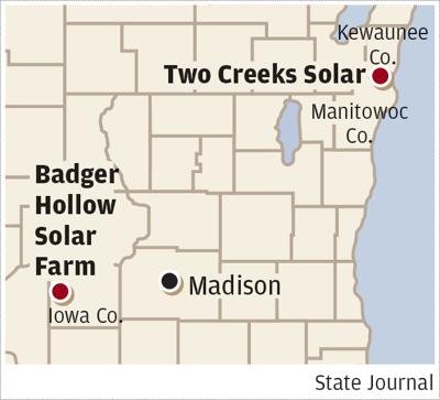 MG&E solar map