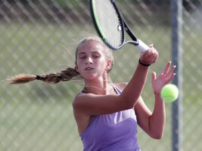 DeForest competes against Fort Atkinson in girls tennis